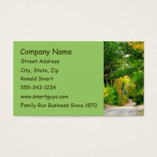 Cartão de visita verde das árvores