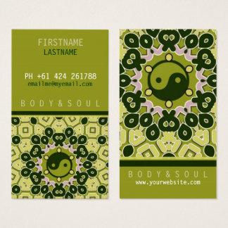 Cartão de visita verde de YINYANG
