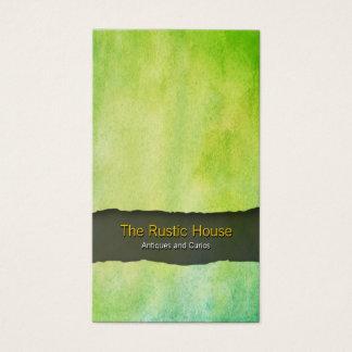 Cartão de visita verde do comércio a retalho da