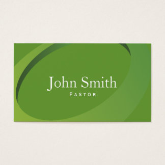Cartão de visita verde moderno do pastor do