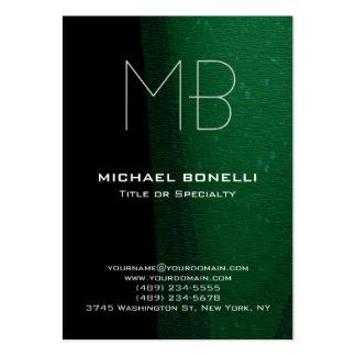 Cartão de visita verde preto moderno na moda do te