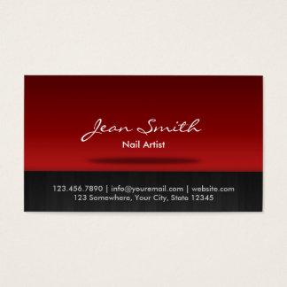 Cartão de visita vermelho à moda da arte do prego