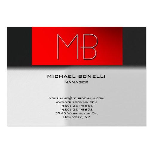 Cartão de visita vermelho cinzento carnudo na moda