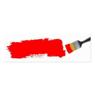 Cartão de visita vermelho da escova de pintura