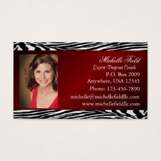 Cartão de visita vermelho da representação