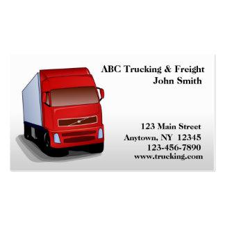 Cartão de visita vermelho do caminhão