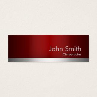 Cartão de visita vermelho do Chiropractor do metal