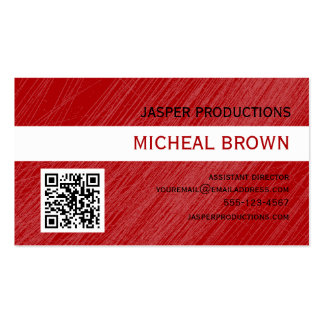 Cartão de visita vermelho do código do rubi QR