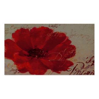 Cartão de visita vermelho do de Plantes