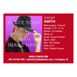Cartão de visita vermelho do Headshot do fulgor de