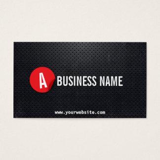 Cartão de visita vermelho do mecânico da etiqueta