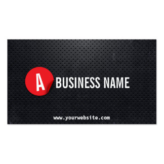Cartão de visita vermelho do motorista da etiqueta