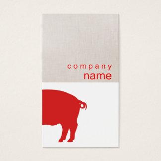 Cartão de visita vermelho do porco