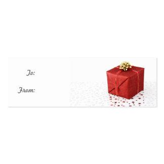 Cartão de visita vermelho do Tag do presente da