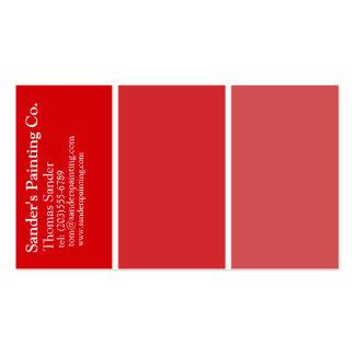 Cartão de visita vermelho dos pintores
