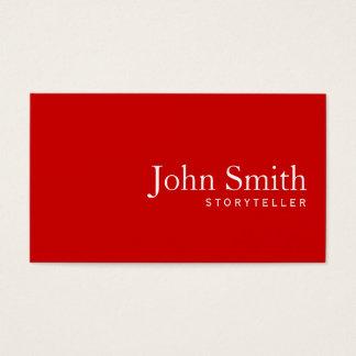 Cartão de visita vermelho liso simples do contador