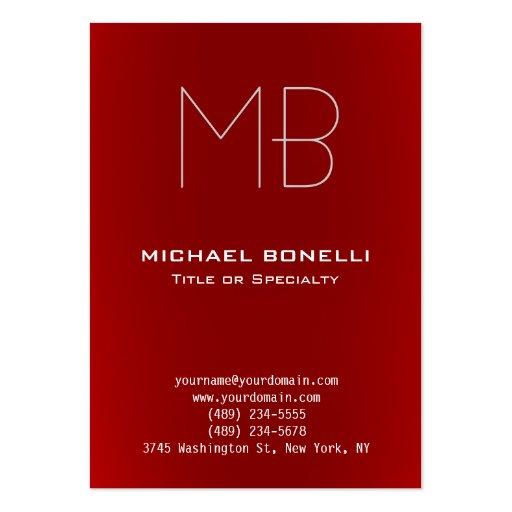 Cartão de visita vermelho moderno carnudo na moda