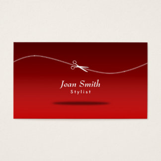 Cartão de visita vermelho moderno do cabeleireiro
