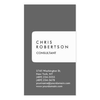 Cartão de visita vertical da listra do branco