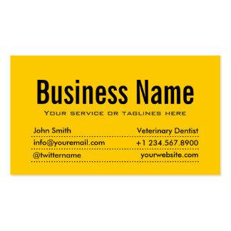 Cartão de visita veterinário amarelo moderno do de