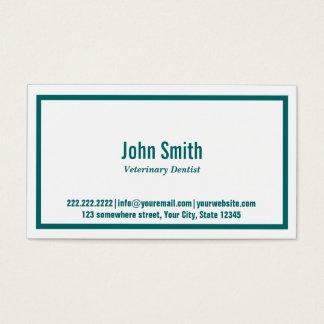 Cartão de visita veterinário do dentista da beira