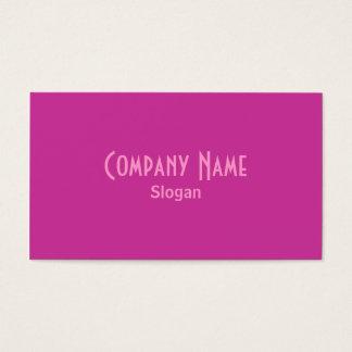Cartão de visita violeta vermelho