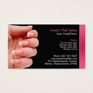Cartão de visita w/Appointment do salão de beleza
