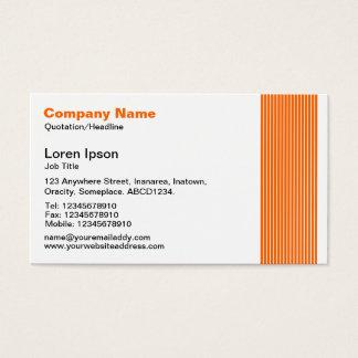 Cartão De Visitas 17 linhas - laranja