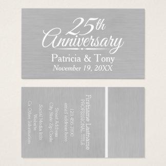 Cartão De Visitas 25o Aniversário de casamento personalizado
