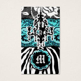 Cartão De Visitas 311 azul de turquesa selvagem do fósforo da