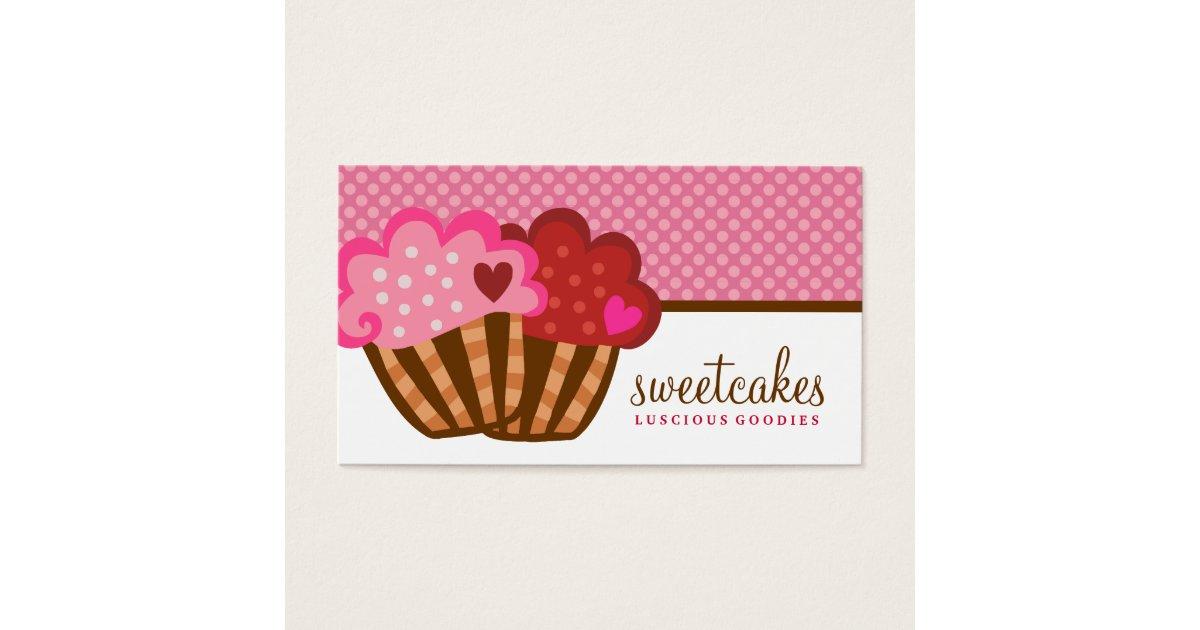 Favoritos Cartão De Visitas 311 corações doces do cupcake dois dos bolos  YL11
