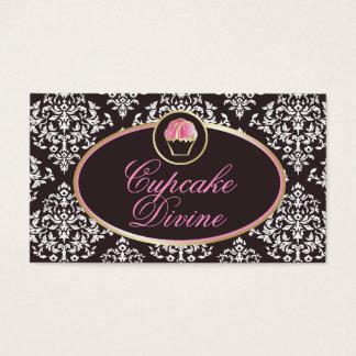 Cartão De Visitas 311-Cupcake Divine o damasco contínuo