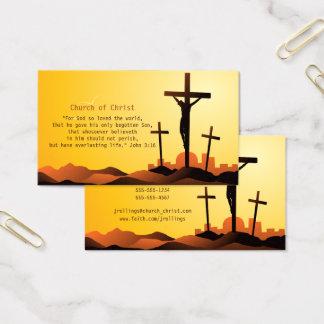 Cartão De Visitas 3:16 de John - cruz religiosa
