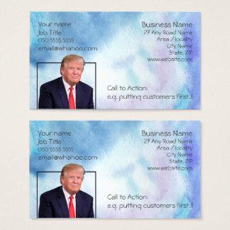 Cartão De Visitas A aguarela azul 2 do retrato genérico tomou
