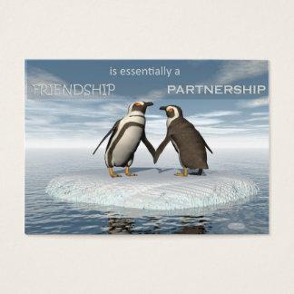 Cartão De Visitas A amizade é essentailly uma parceria