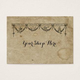 Cartão De Visitas A antiguidade vazia da estação & do querubim