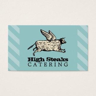 Cartão De Visitas a carne de vaca feita sob encomenda do vôo da cor