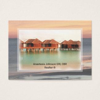 Cartão De Visitas A casa de férias profissional do corretor de