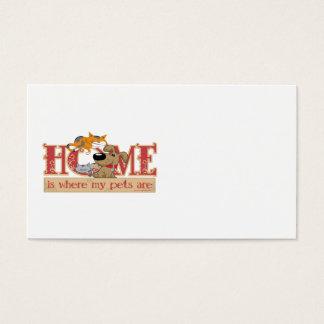 Cartão De Visitas A casa é o lugar onde meus animais de estimação