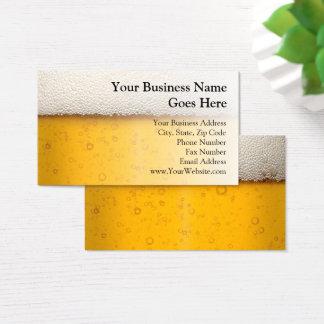 Cartão De Visitas A cerveja borbulha cervejaria do artesanato da