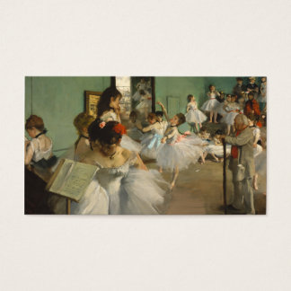 Cartão De Visitas A classe de dança. Edgar Degas