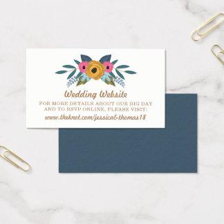 Cartão De Visitas A coleção branca do casamento da grinalda floral