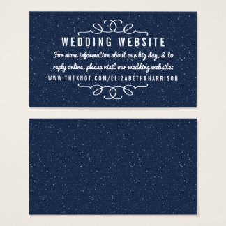 Cartão De Visitas A coleção do casamento da noite estrelado - Web