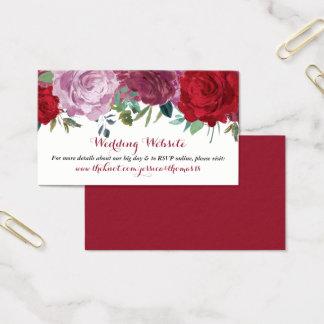 Cartão De Visitas A coleção floral romântica do casamento