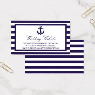Cartão De Visitas A coleção náutica do casamento da listra do