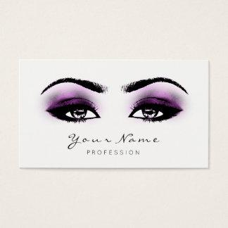 Cartão De Visitas A composição cor-de-rosa fúcsia chicoteia o branco