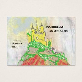 Cartão De Visitas A data do jogo do castelo convida com parte