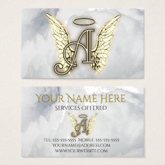 Cartão De Visitas A é para a inicial da letra do alfabeto do anjo