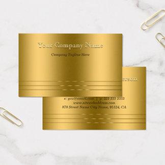 Cartão De Visitas A elegância encontra ouro moderno o olhar gravado