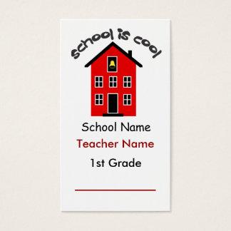 Cartão De Visitas A escola é marcador legal